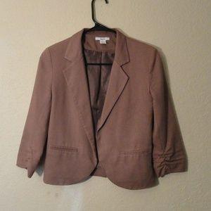 Bar III Women's Taupe Blazer 3/4 Sleeves
